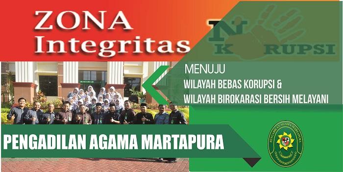 PA Martapura Wilayah Zona Integritas